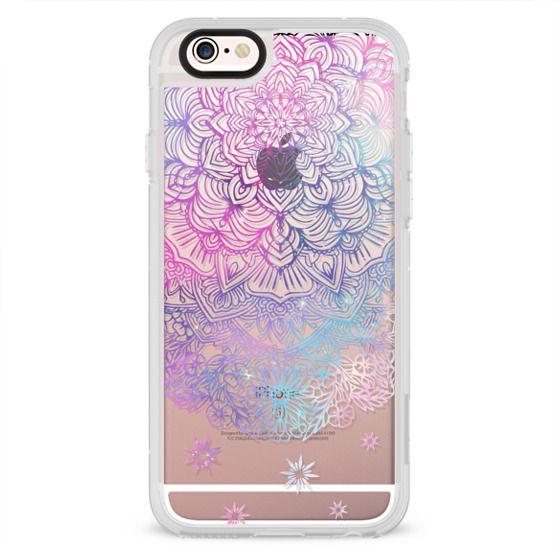 iPhone 4 Cases - Duochrome Blue and Purple Mandala Lace Dreamcatcher
