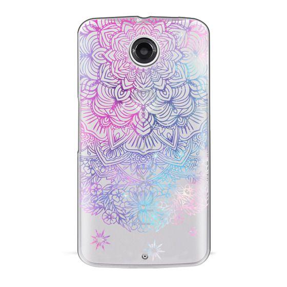 Nexus 6 Cases - Duochrome Blue and Purple Mandala Lace Dreamcatcher