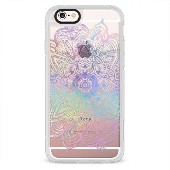 iPhone 4 Cases - Rainbow Holographic Mandala Lace Explosion