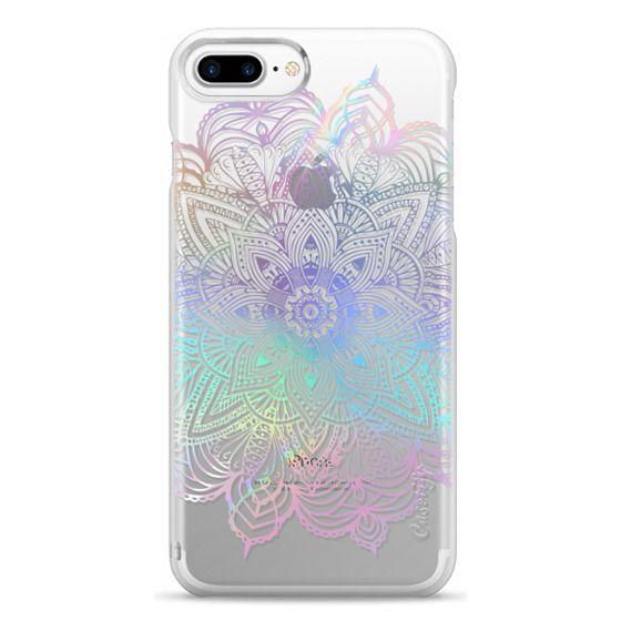 iPhone 7 Plus Cases - Rainbow Holographic Mandala Lace Explosion