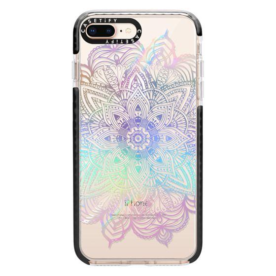 iPhone 8 Plus Cases - Rainbow Holographic Mandala Lace Explosion