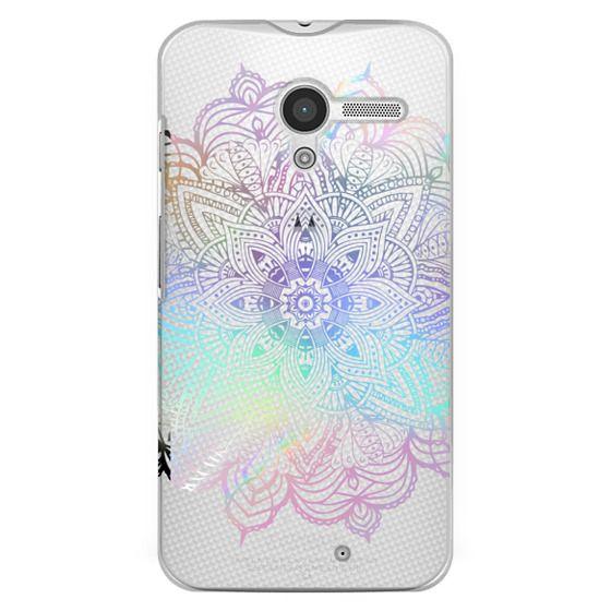 Moto X Cases - Rainbow Holographic Mandala Lace Explosion