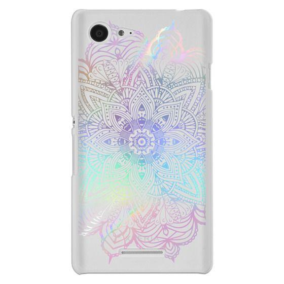 Sony E3 Cases - Rainbow Holographic Mandala Lace Explosion