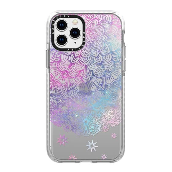 iPhone 11 Pro Cases - Duochrome Blue and Purple Mandala Lace Dreamcatcher