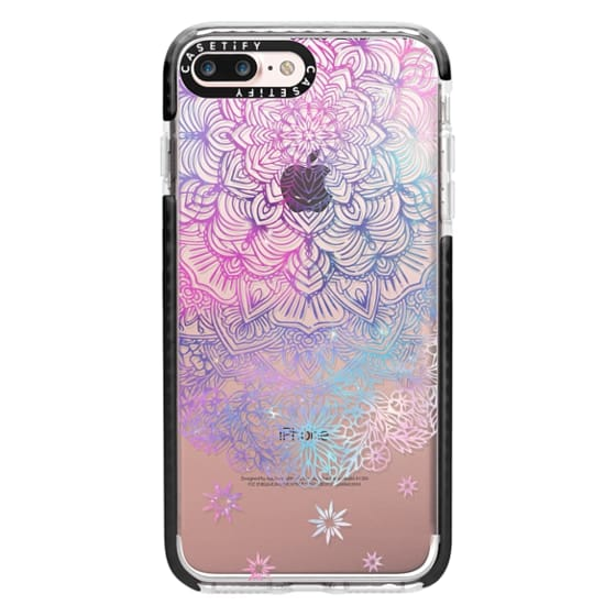 iPhone 7 Plus Cases - Duochrome Blue and Purple Mandala Lace Dreamcatcher