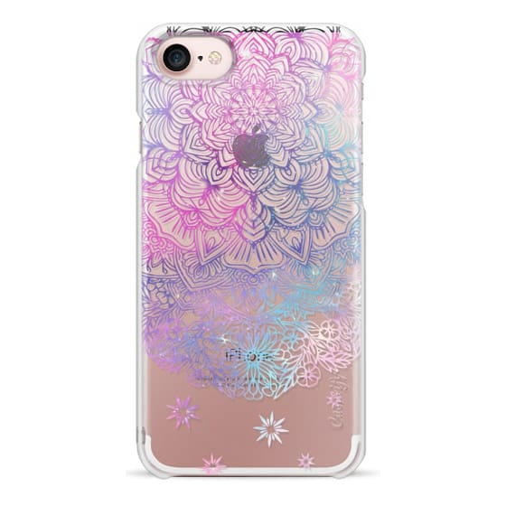 iPhone 7 Cases - Duochrome Blue and Purple Mandala Lace Dreamcatcher