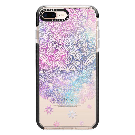 iPhone 8 Plus Cases - Duochrome Blue and Purple Mandala Lace Dreamcatcher