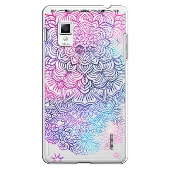 Optimus G Cases - Duochrome Blue and Purple Mandala Lace Dreamcatcher