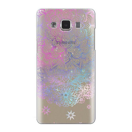 Samsung Galaxy A5 Cases - Duochrome Blue and Purple Mandala Lace Dreamcatcher