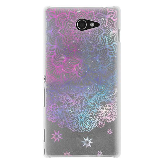Sony M2 Cases - Duochrome Blue and Purple Mandala Lace Dreamcatcher