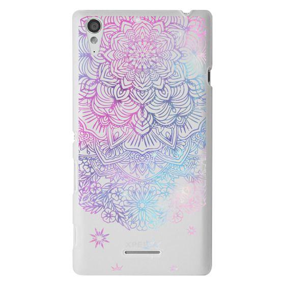 Sony T3 Cases - Duochrome Blue and Purple Mandala Lace Dreamcatcher