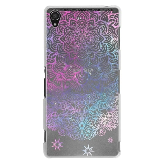 Sony Z3 Cases - Duochrome Blue and Purple Mandala Lace Dreamcatcher