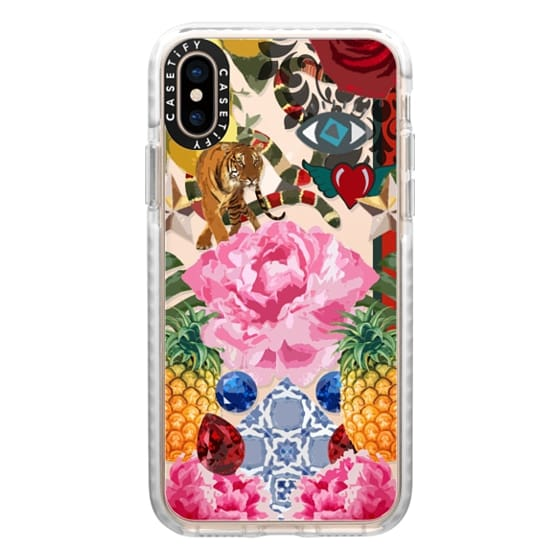 iPhone XS Cases - High Fashion Floral JetBlack iPhone