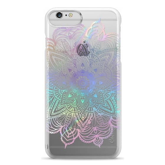 iPhone 6 Plus Cases - Rainbow Holographic Mandala Lace Explosion