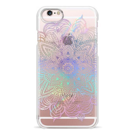 iPhone 6s Cases - Rainbow Holographic Mandala Lace Explosion