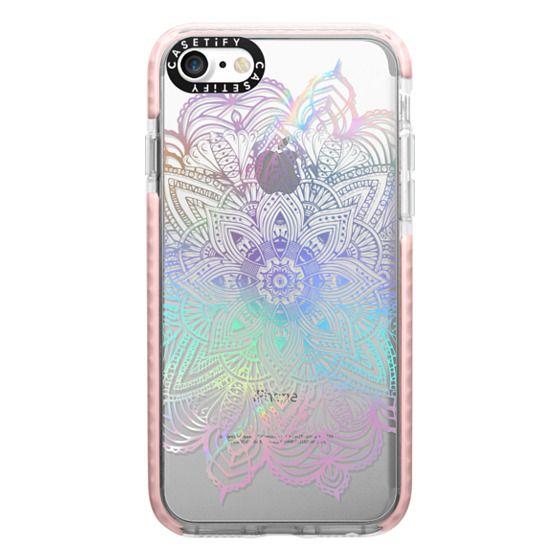 iPhone 7 Cases - Rainbow Holographic Mandala Lace Explosion