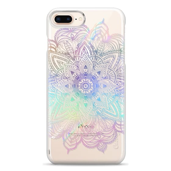 iPhone 8 Plus Cases - Rainbow Holographic Mandala Lace Explosion