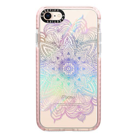 iPhone 8 Cases - Rainbow Holographic Mandala Lace Explosion