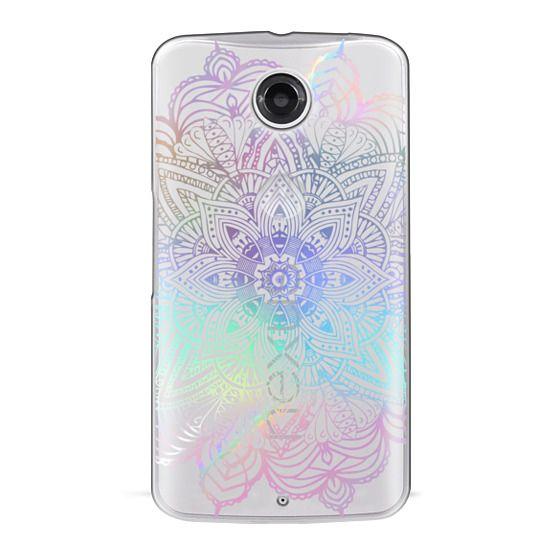 Nexus 6 Cases - Rainbow Holographic Mandala Lace Explosion