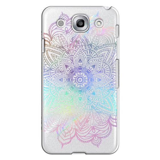 Optimus G Pro Cases - Rainbow Holographic Mandala Lace Explosion