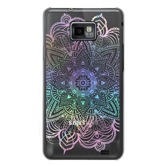 Samsung Galaxy S2 Cases - Rainbow Holographic Mandala Lace Explosion