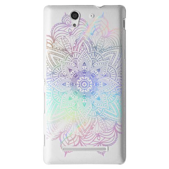 Sony C3 Cases - Rainbow Holographic Mandala Lace Explosion