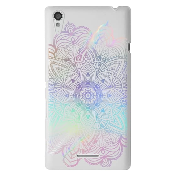 Sony T3 Cases - Rainbow Holographic Mandala Lace Explosion