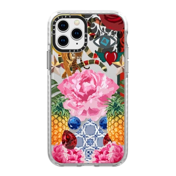 iPhone 11 Pro Cases - High Fashion Floral JetBlack iPhone