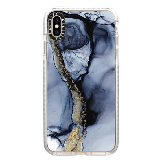iPhone XS Max Cases - Black Marble