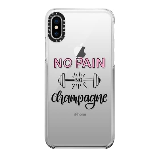 iPhone X Cases - No Pain No Champange