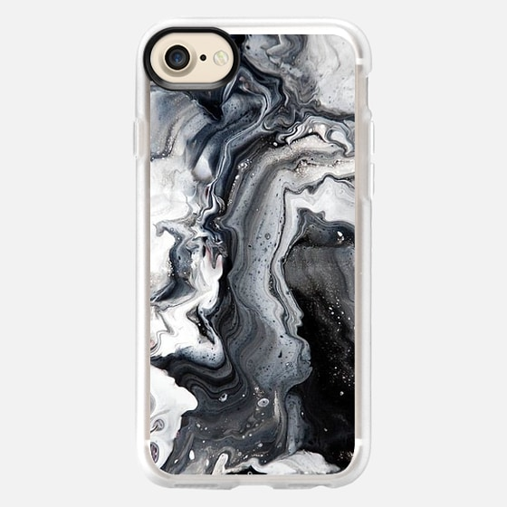 black and white marble - Wallet Case