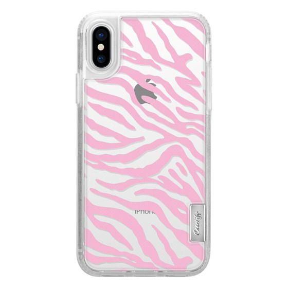 iPhone X Cases - PINK ZEBRA