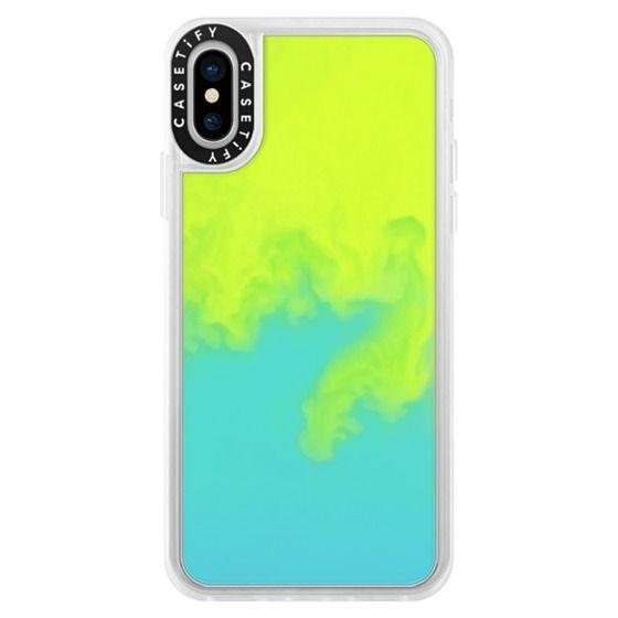 iPhone XS Cases - ネオン サンド リキッド ケース