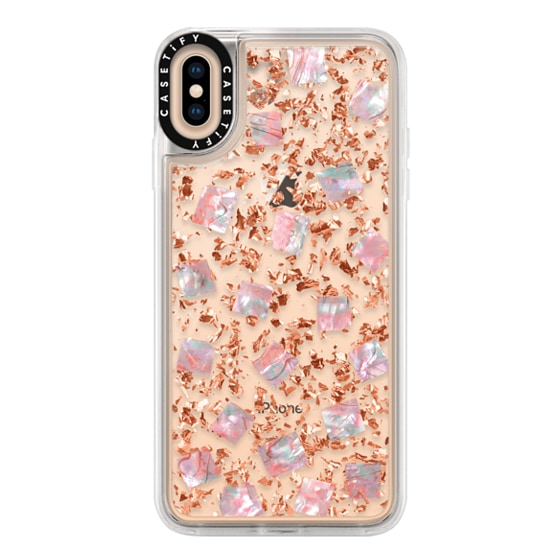 24 Karat Iphone Xs Max Rose Gold Case With Mother Of Pearl Casetify