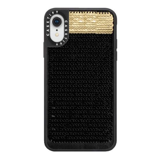 iPhone XR Cases - Hidden Message Sequin Case