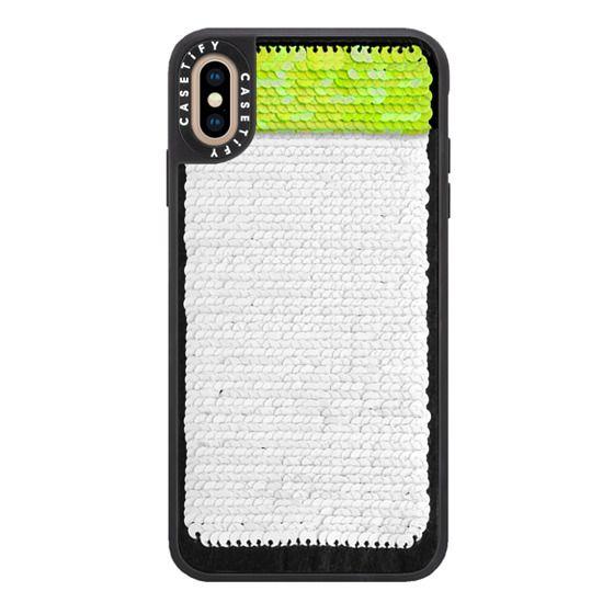 iPhone XS Max Cases - Hidden Message Sequin Case