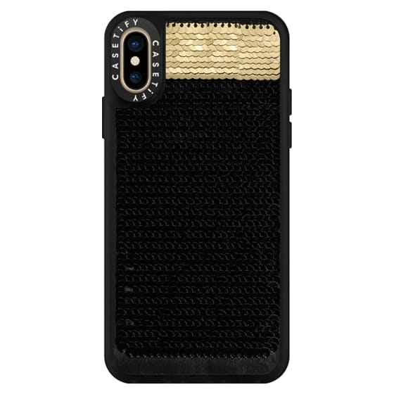 iPhone XS Cases - Hidden Message Sequin Case