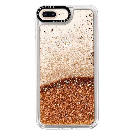 newest 5464a 4b0a8 Glitter iPhone 8 Plus Case - Custom Initial