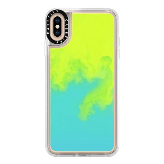 iPhone XS Max Cases - Neon Sand Liquid Case