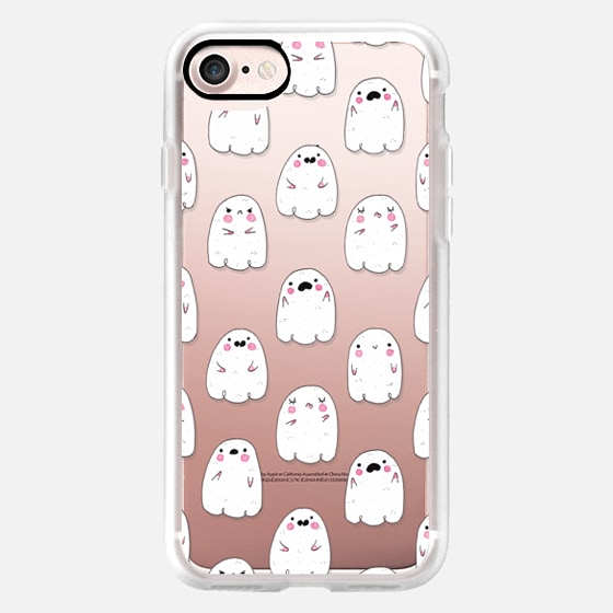 Cute Ghosts on Clear -