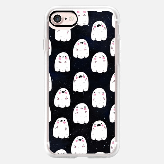 Cute Ghosts at Night -