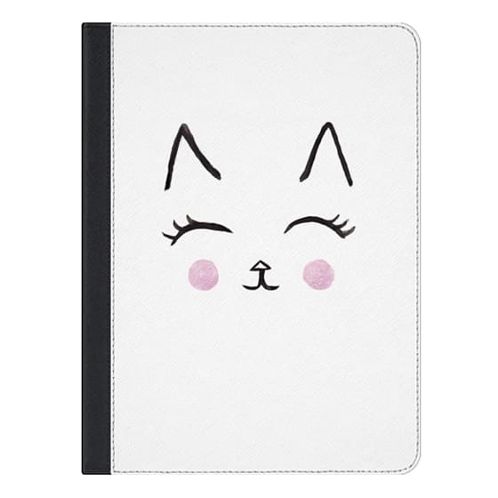 9.7-inch iPad Covers - Cute Cat Face Watercolour for IPAD