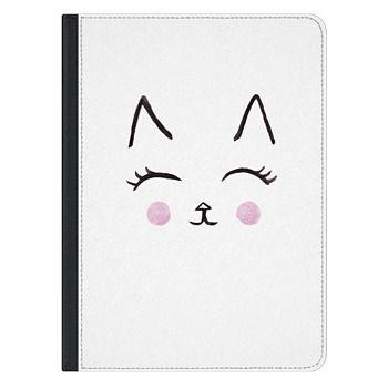 iPad Pro 12.9-inch Case - Cute Cat Face Watercolour for IPAD