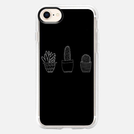 Simple Cacti (Black) - Snap Case