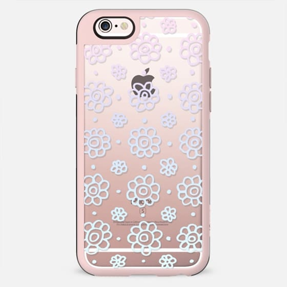 Pastel Spring Flowers Lace Pattern - New Standard Case