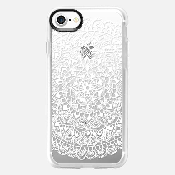 White Mandala Lace Pattern - Classic Grip Case