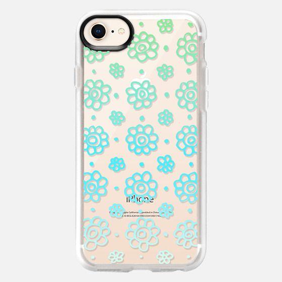 Summer Flowers Blue Lace Pattern - Snap Case
