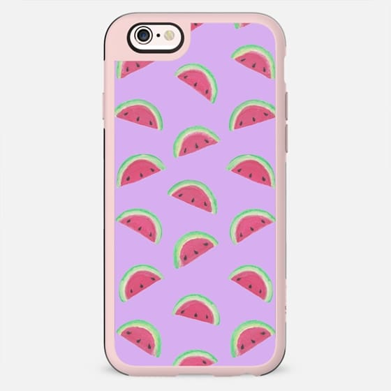 Watercolour Watermelon Pattern Lilac - New Standard Case