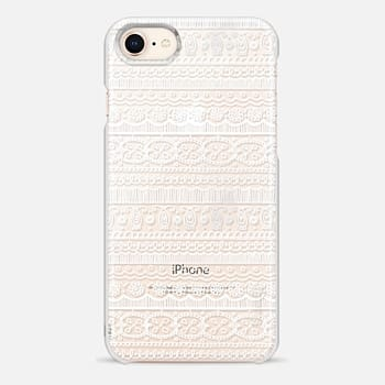 iPhone 8 Case PRETTY LACE PATTERN (WHITE)