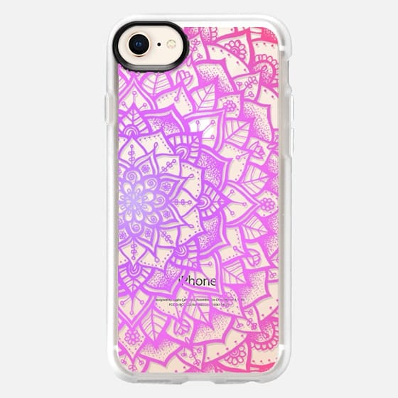 Pretty Lace Mandala #1 (Pretty in Pink) - Snap Case